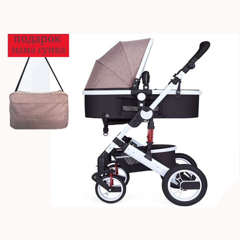 stroller high landscape can sit or lie shock winter children baby stroller two-way deck trolley Russia Free Shipping
