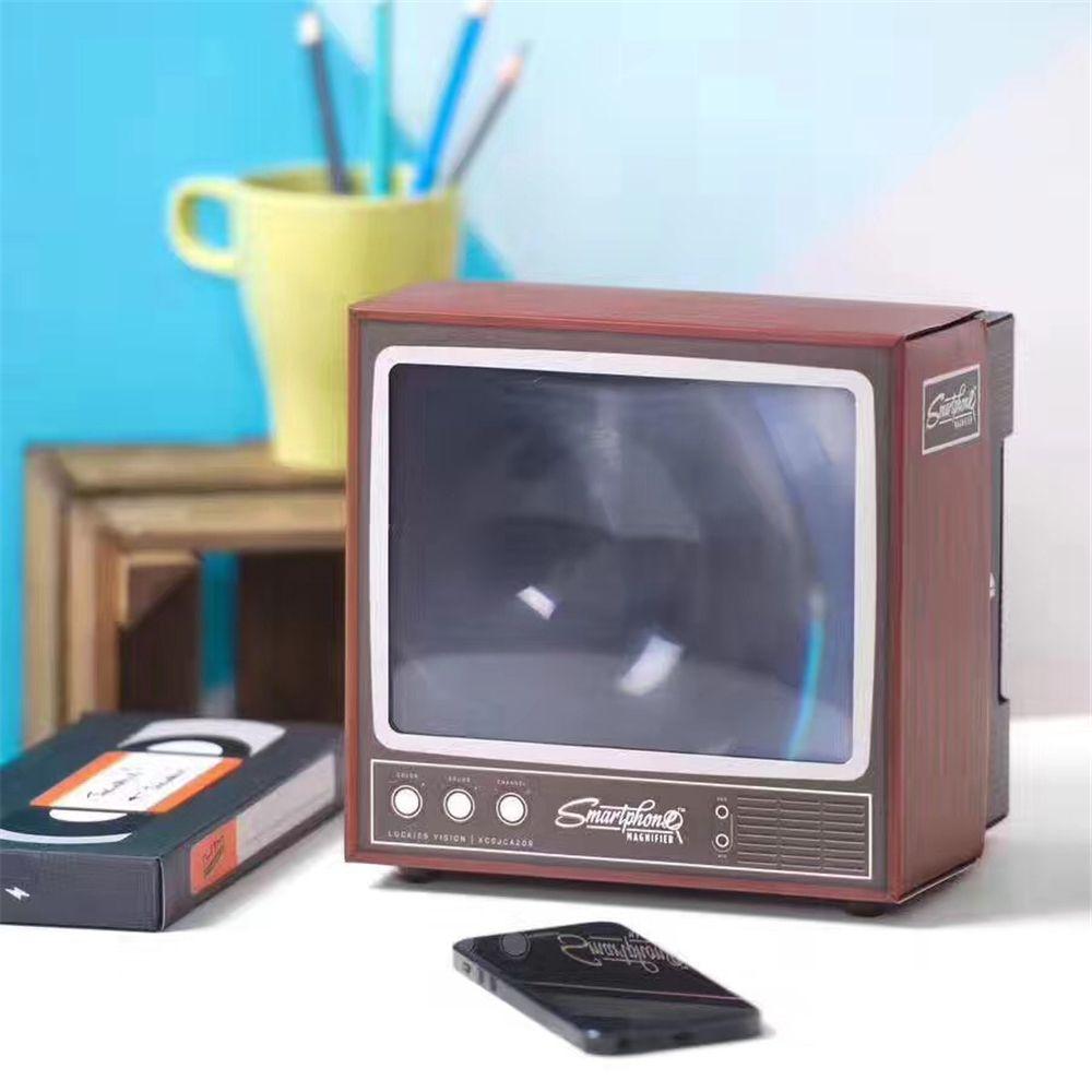 HD Loupe Appareils Intelligents Téléphone Titulaire Télévision Rétro Écran Loupe Portable Style Téléphone Intelligent Multifonctionnel