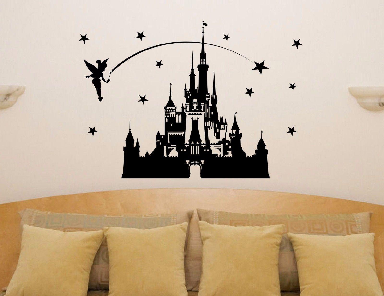 HWHD Os1638 2016 Kinderzimmer Karton Schloss Märchen Prinzessin Tinkerbell Wandkunst Aufkleber Aufkleber Kostenloser Versand