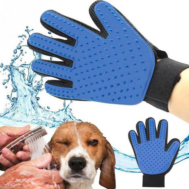 Deshedding Pet Chien Brosse Gant Chat Doux Efficace Massage Toilettage Brosse De Nettoyage Magique Gant De Cheveux Pour Poilu animaux
