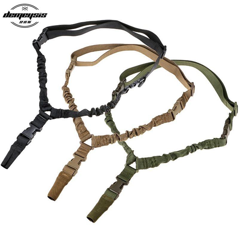 Réglable En Nylon Multi-fonction Un Point Tactique Rifle Sling Chasse Gun Bracelet En Plein Air Airsoft Système Kit