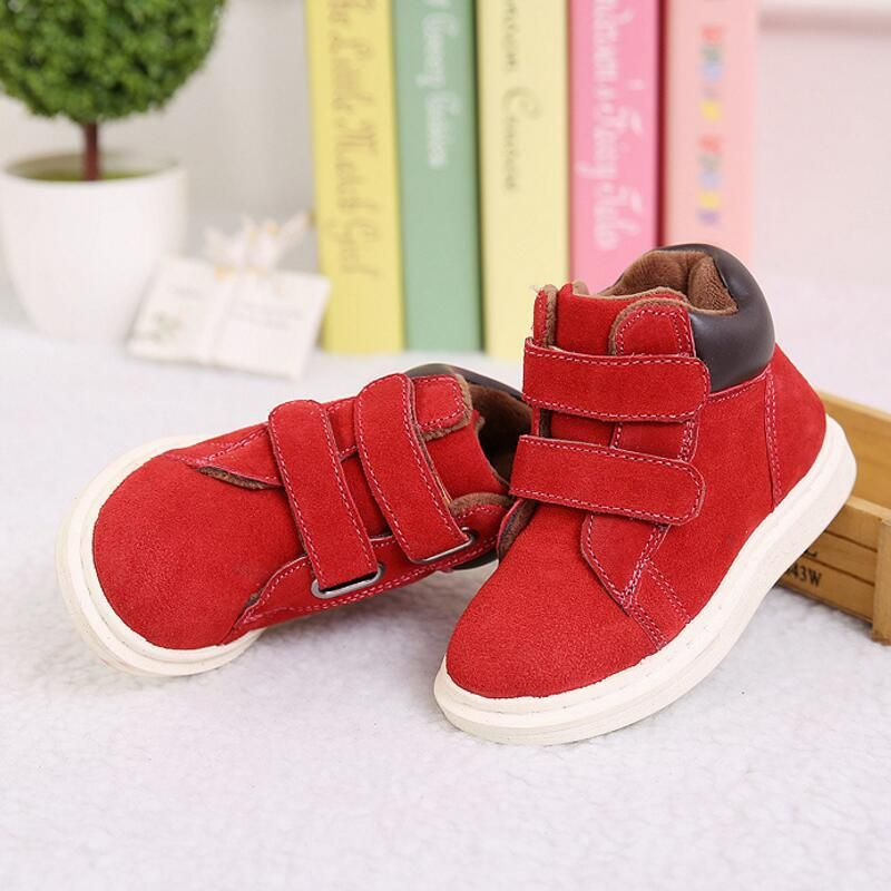 Children Martin Boots Winter 2018 Coral <font><b>Fleece</b></font> Kids Boots For Girl Shoes With Rubber Soles Of Boys Boots Children Shoes Size