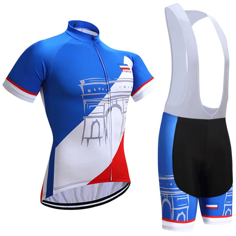 2018 Tour France Team cycling jersey bibs shorts set sobycle cycling shirts bottoms mens summer quick-dry mountain bike wear