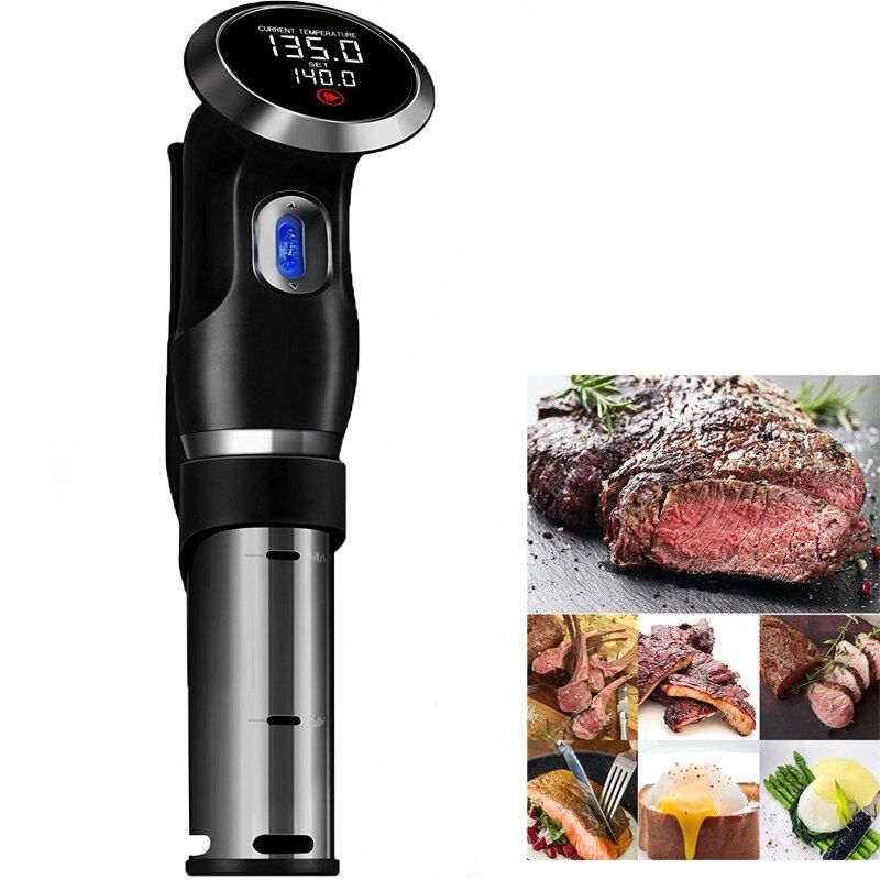 Vacuum Slow Sous Vide Food Cooker 1500W Powerful Immersion Circulator - LCD Digital Timer Display Stainless Steel