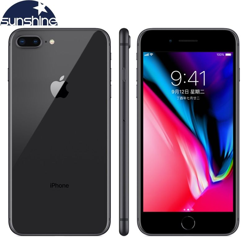 Unlocked Original Apple iPhone 8 Plus 4G LTE Cell phones 3GB RAM 64/256GB ROM 5.5' 12.0 MP Hexa-core Fingerprint Mobile phone