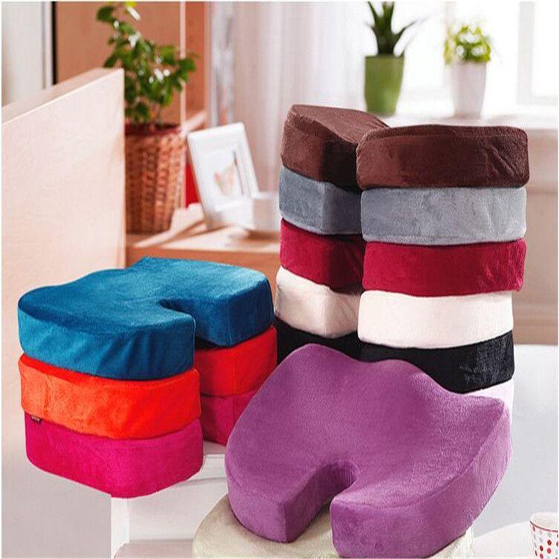 45x35 CM U forme coussin de siège en mousse à mémoire de forme bout à bout façonnage Super jouet canapé coussin doux en peluche cas maison bureau décoration Textile