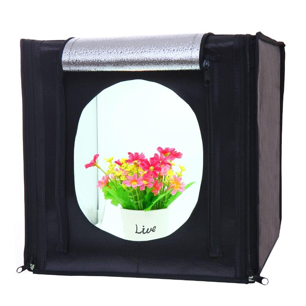 CY30 * 30 cm LED Photo Studio Softbox tir lumière tente boîte souple + sac Portable + adaptateur secteur pour bijoux jouets Shoting envoyer trépied