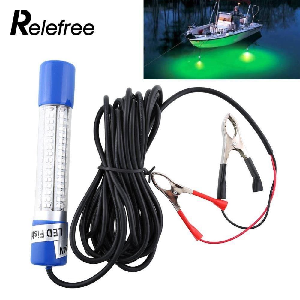 Relefree 12 V Grün Nacht Led-unterwasserboot Tauch Fischköder Licht Clip-on NEW