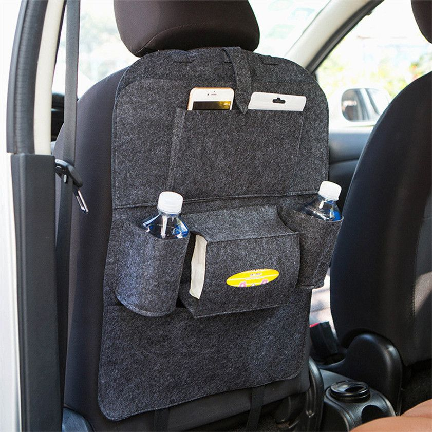 2017 New Car Auto Seat Back Multi-Pocket Storage Bag Organizer Holder Hanger Car-styling Covers Auto Nets car accessories