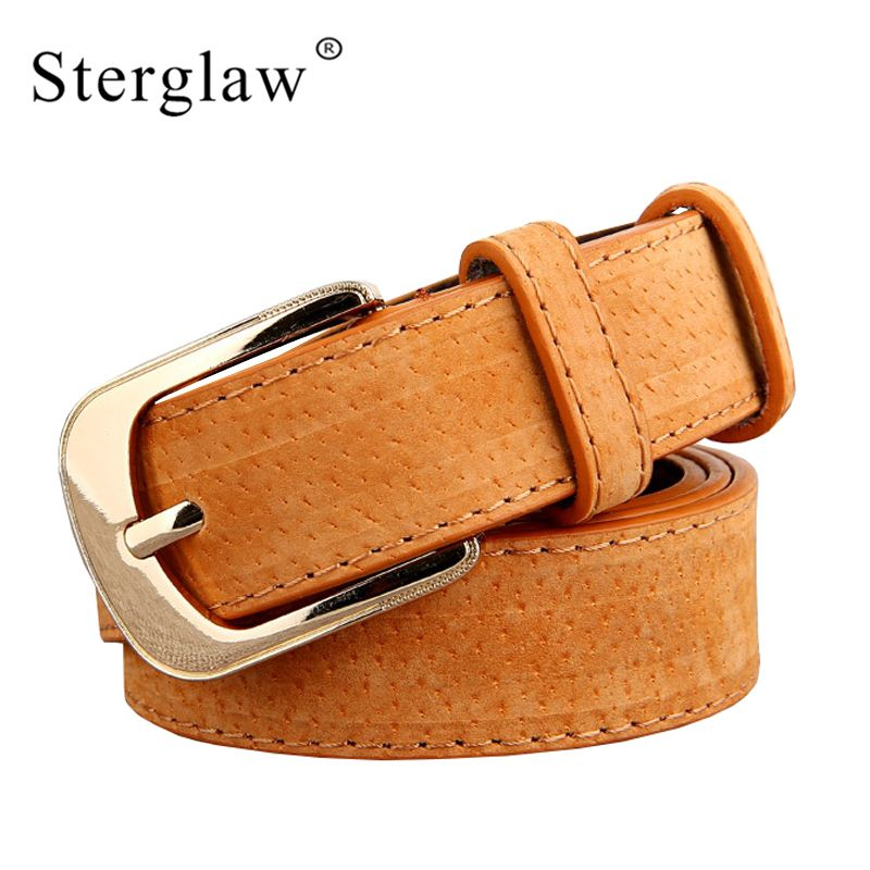 Design Direct Selling High Quality Womens Wide Belts Moda 2018 Femenina Vintage Female Leather For Jeans Cintos De Mujer F104