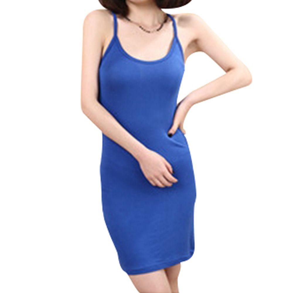 2017 новая мода весна и лето корейский женщин Y сечение Тонкий платье без рукавов Длина юбки слинг сечение одно размер