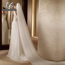Putih/Gading 3 M Putih/Gading Pernikahan Kerudung Dua Lapisan Pengantin Panjang Kerudung Kepala Kerudung Pernikahan Aksesoris fashion