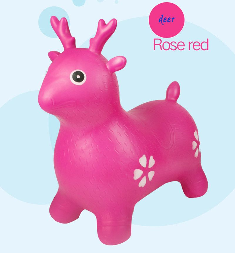 Children's inflatable Ma Baobao music toy horse <font><b>jumping</b></font> horse 2-3-4-5-6-7 old baby seat
