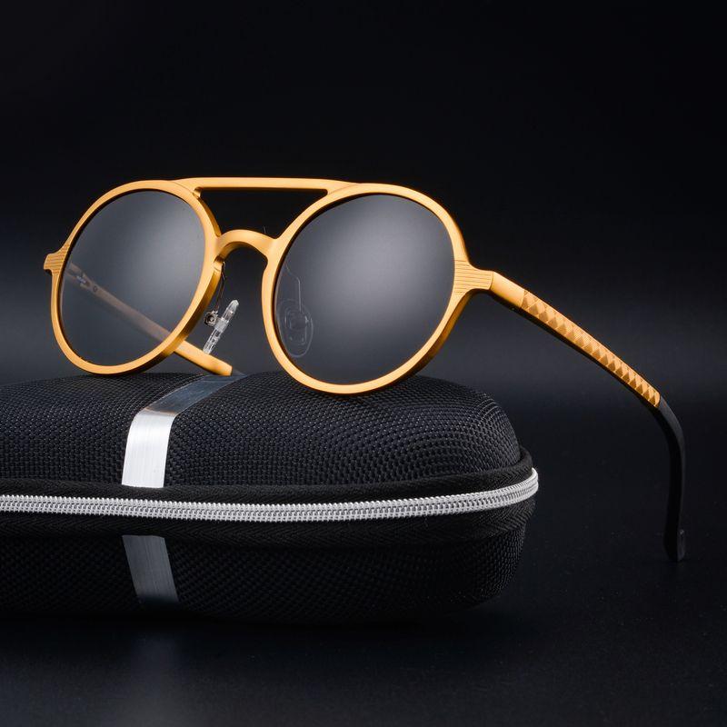 The new woman polarized sunglasses Restore ancient ways round box fashion sunglasses Aluminum magnesium driving glasses sunglass