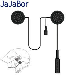 JaJaBor Motor Wireless Bluetooth Headset Motorcycle Helmet Earphone Headphone Speaker Handsfree Music For MP3 MP4 Smartphone