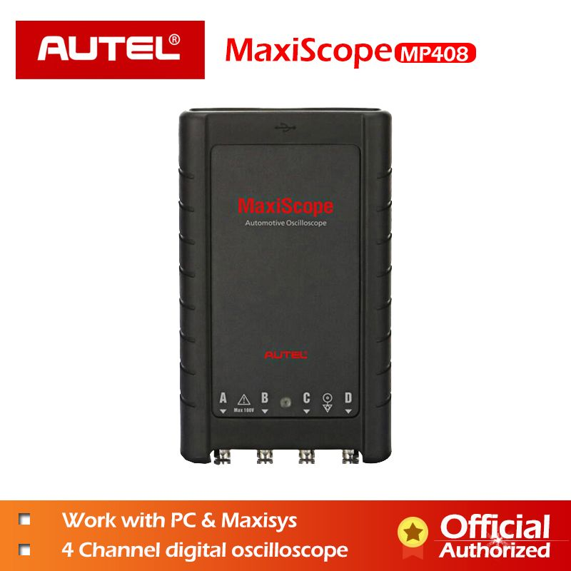 AUTEL MaxiScope MP408 Grundlegende Kit Automotive Oszilloskop Lesen Display Elektrische Signale 4 Kanal PC Maxisys Diagnostic Tool
