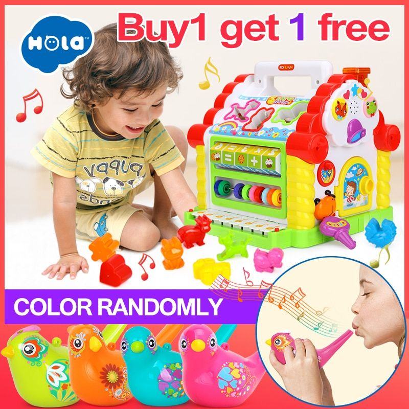 HOLA 739 Multifunctional Musical Toys Baby Fun <font><b>House</b></font> Musical Electronic Geometric Blocks Sorting Learning Educational Toys Gifts