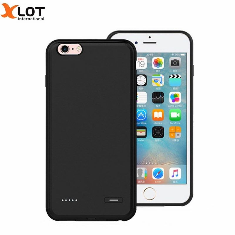 Ultra thin External Power Bank Case For iPhone 6 6S 6Plus 6sPlus Phone Cases Backup PC+Silicon Battery Cover for iPhone 6Plus
