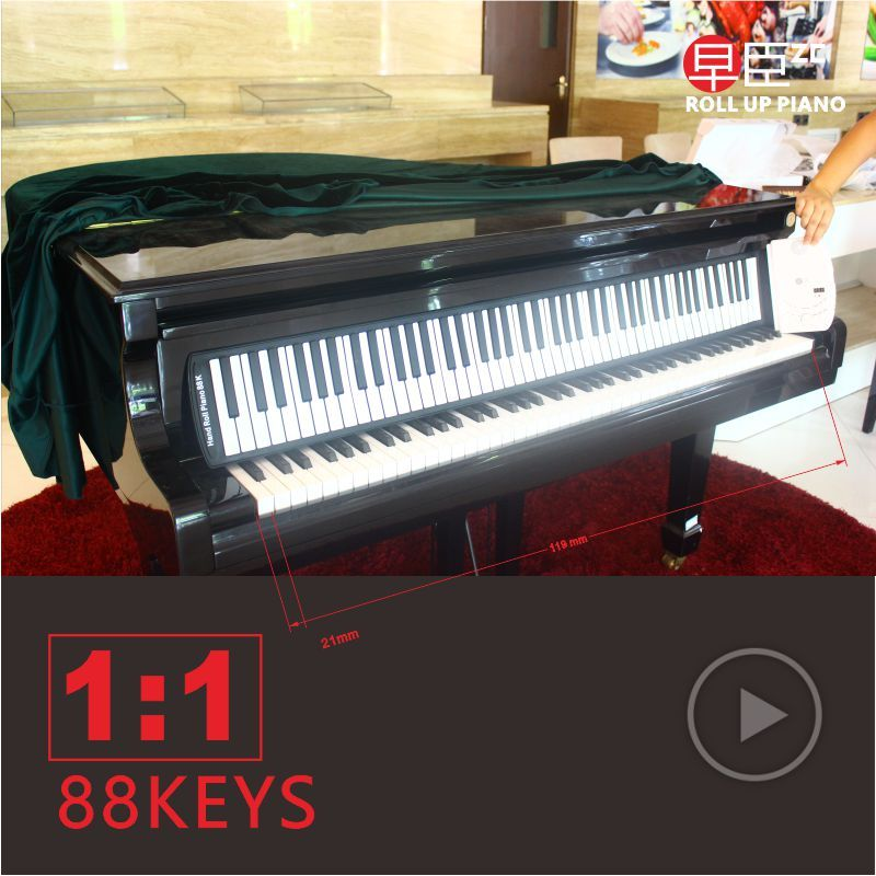 DHL 88keys portable soft midi digital usb controller synthesizer roll up electronic Musical keyboard piano Instruments sticker