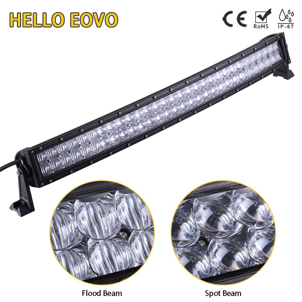 HELLO EOVO 5D 32 inch Curved LED Light Bar for Work Indicators Driving Offroad Boat Car Tractor Truck 4x4 SUV ATV 12V 24V
