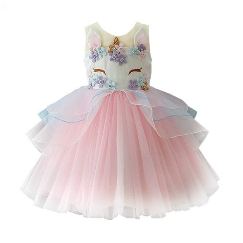 Happy Birthday Costume New Arrival Girl's Princess Dress Party Dresses Christmas Outfits Kid's Outwear Children Girl's Clothing