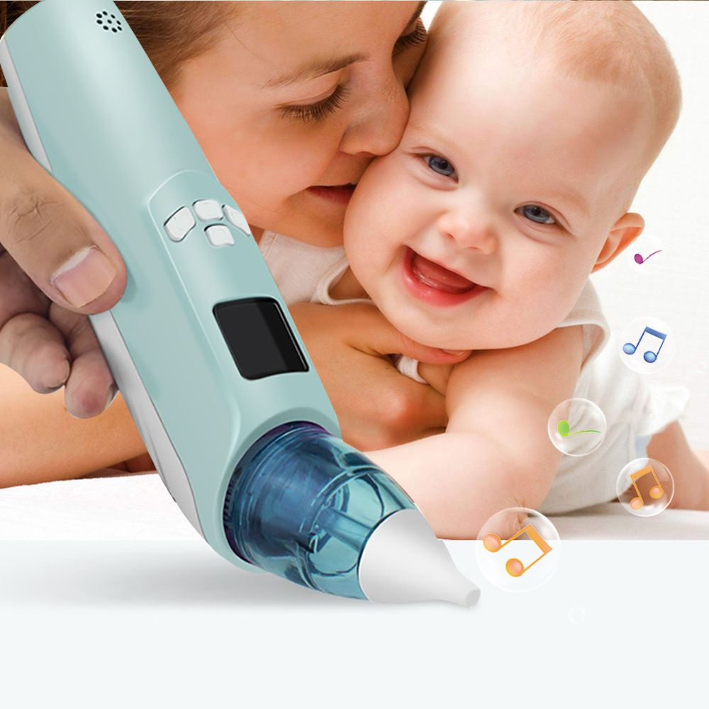 Baby Nasal Aspirator Safe Hygienic Adjustable Nose Snot Cleaner Suction With Music For Newborn Infant Toddler For Baby 2018 NEW