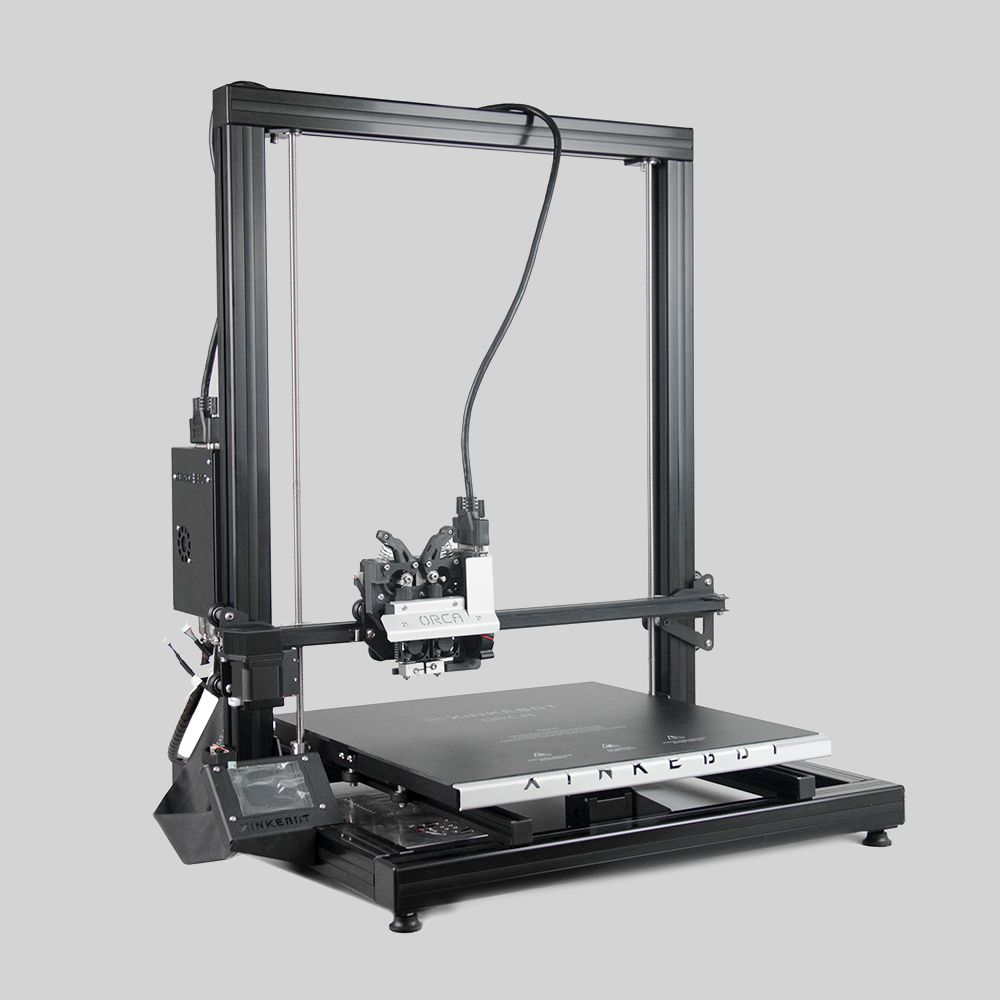 Xinkebot Orca 2 Cygnus High Quality Large 3D Printer 400x400x500mm Printing Size Dual Extruder Aluminum Heat Bed with Cover