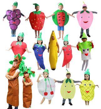 Children Kids Halloween Party Children's Day Cartoon Fruit Vegetable Costume Cosplay Clothes Pumpkin Banana Tree for Boy Girl