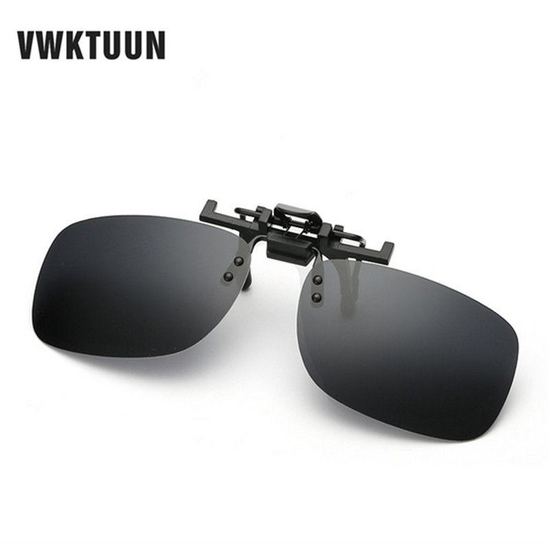VWKTUUN квадратные Поляризационные Клип на солнцезащитные очки для женщин для мужчин негабаритных Защита от солнца очки вождения поляризаци...