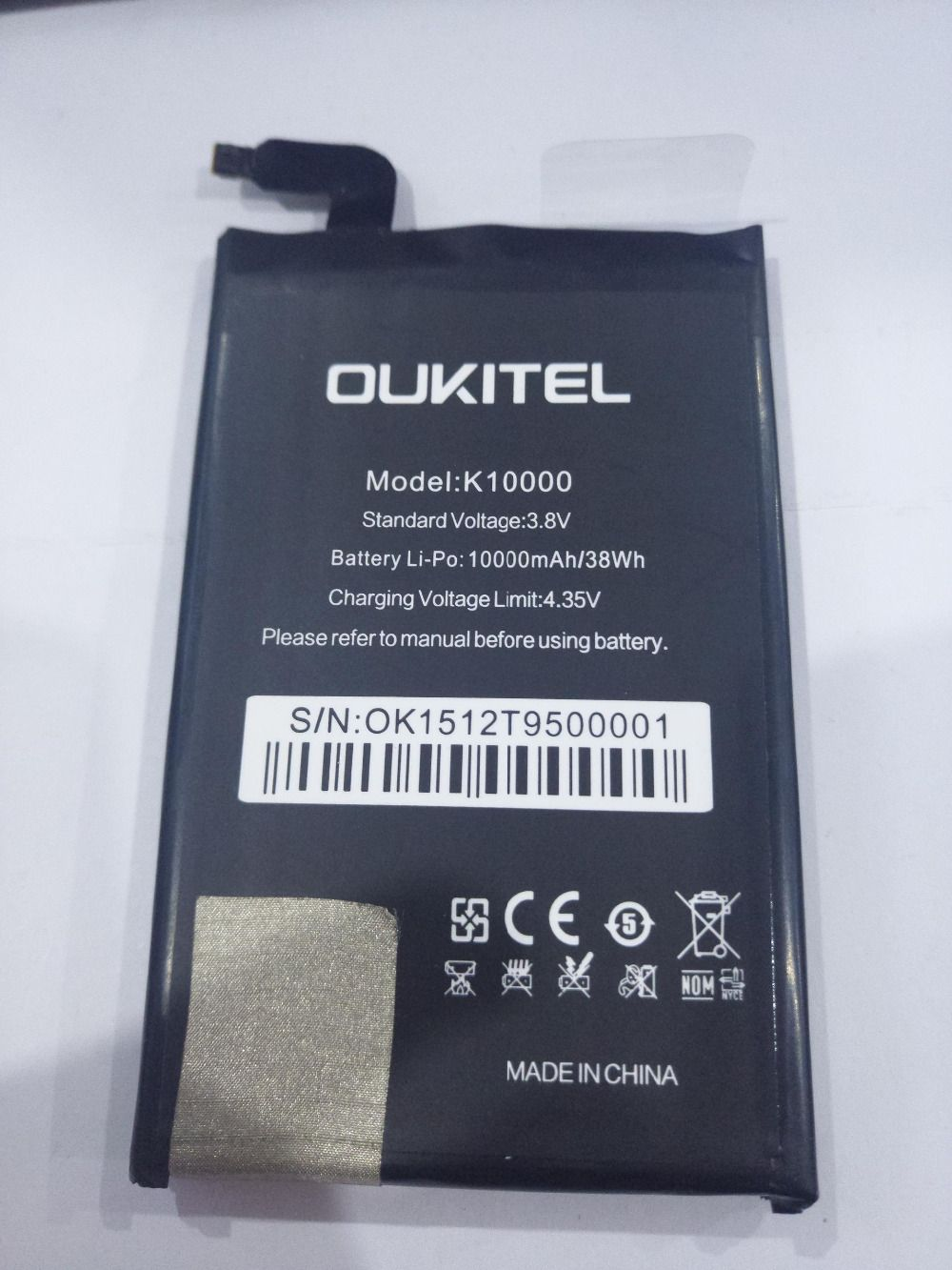 Oukitel k10000 Battery 100% New High Quality 10000Mah Battery Replacement Backup Battery For Oukitel k10000