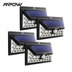 Mpow CD012 24 LED Lampu Tenaga Surya Lampu Taman Outdoor Lampu Tahan Air Sensor Gerak Lampu untuk Halaman Dinding Pintu Garasi