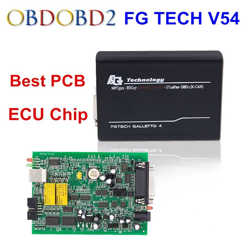 Newest FGTech V54 Galletto 4 EU 0475 Master Support BDM Full Function Fg Tech V54 Auto ECU Chip Tuning OBD FG-TECH Free Ship