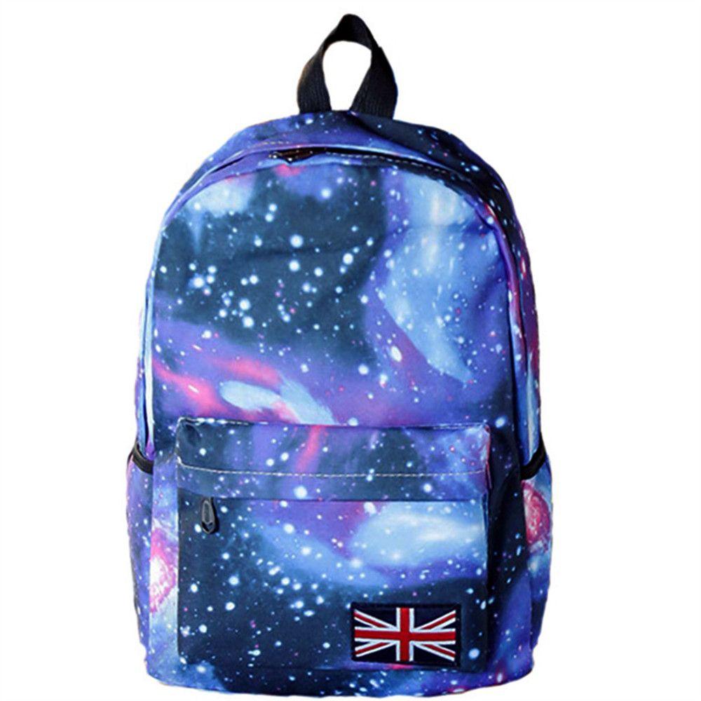 New Fashion School backpack For girls Galaxy printing Travel Bags Large Capacity Travel Girls Boys School bag College Bookbag