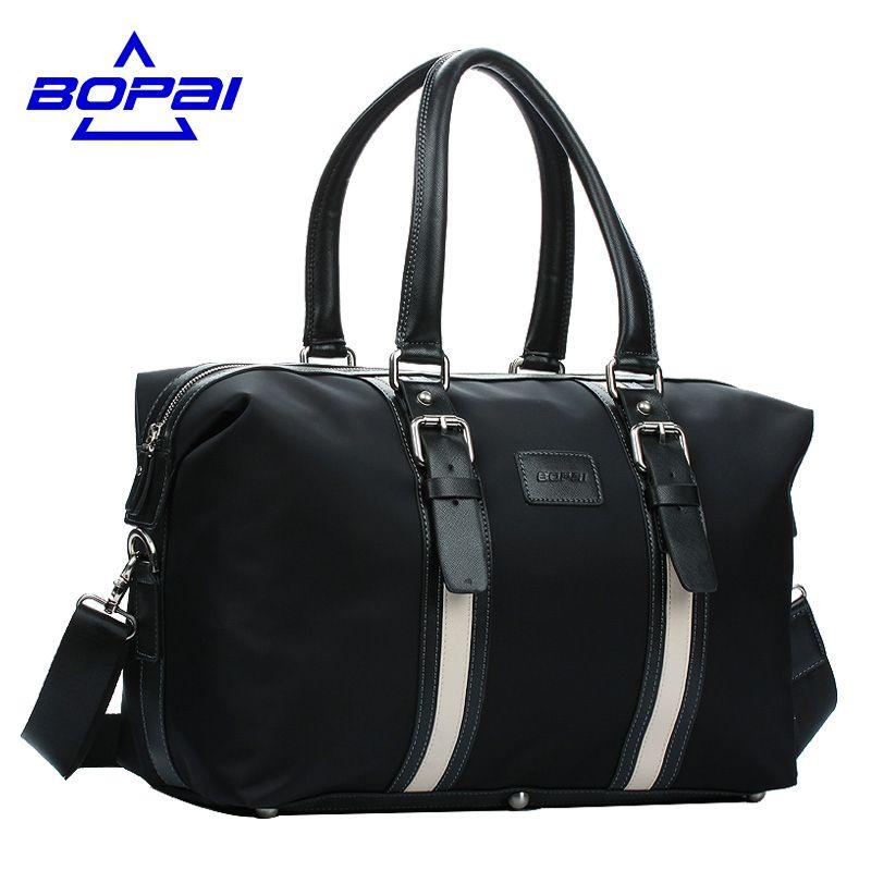 BOPAI Foldable Men Travel Handbags Hand Luggage Waterproof Weekend Travel Shoulder Bags Business duffle Bags Men mala de viagem