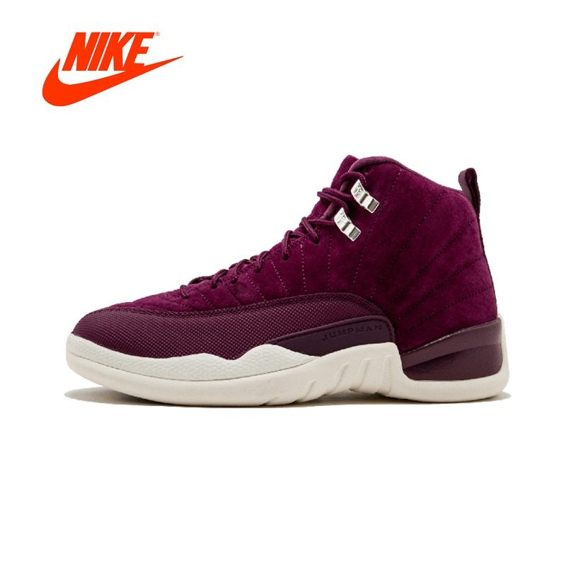 Original New Arrival Authentic NIKE Air Jordan 12 Retro Mens Basketball Shoes Sneakers Breathable Sport Outdoor Good Quality