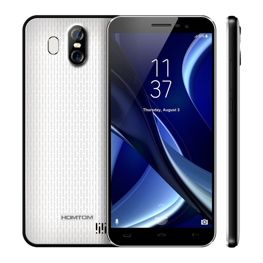 HOMTOM S16 3G Smartphone Original Android 7.0 MTK6580 Quad-Core 1.3GHz 2GB RAM 16GB ROM 8.0MP Front Camera Back Camera 13.0MP
