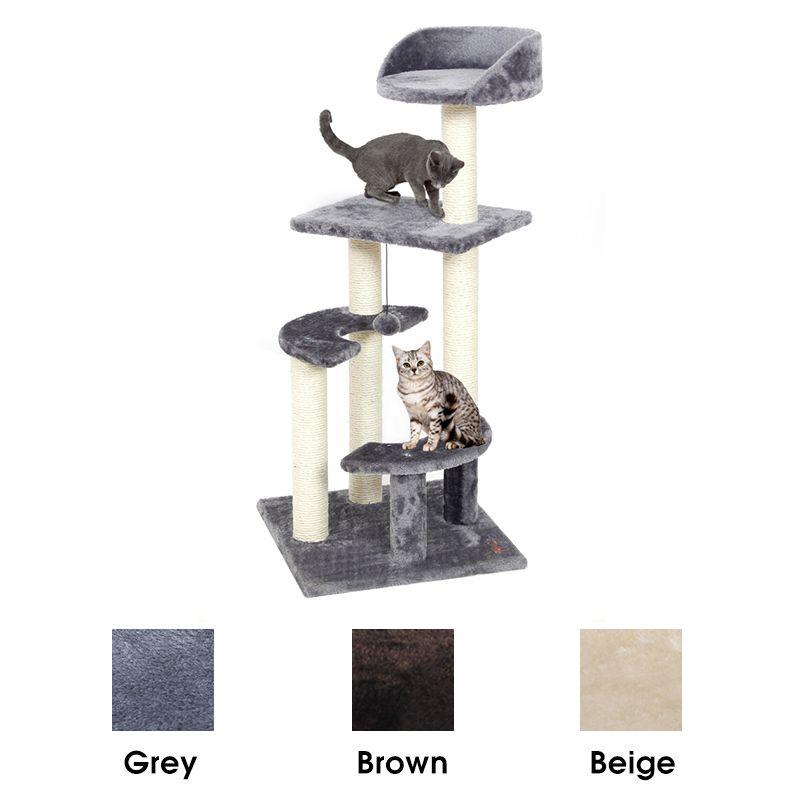 RU Domestic Lieferung Katze Baum Haus für Katze Katze Baum Hoch Katze Turm Bett Mit Kratzen Post Kätzchen Spielzeug Mascotas