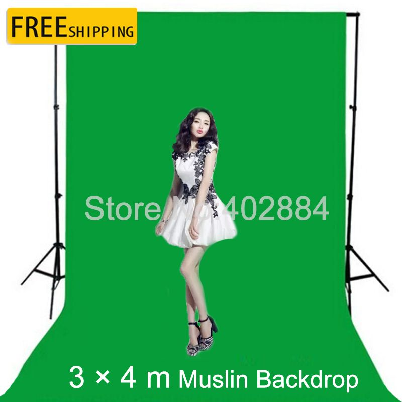3x4M Green Screen Fotografia Valentine Backdrop Cotton Muslin Backgrounds for Photo <font><b>Studio</b></font> Chromakey