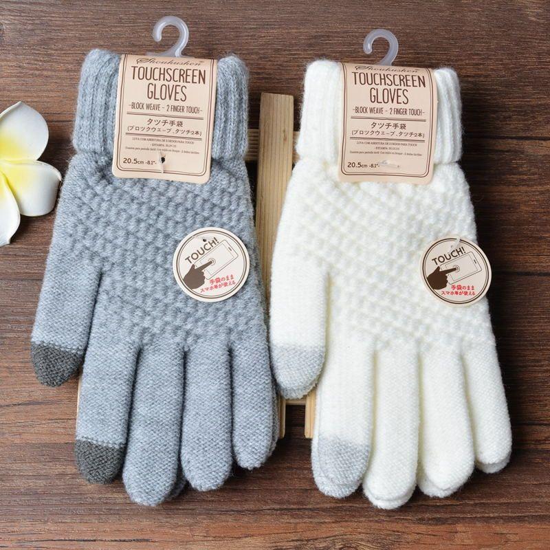 5 Colors Women Gloves Winter Warm Full Finger Touchscreen Soft Wrist Female Gloves Gants Femme Mittens Cashmere Guantes Mujer