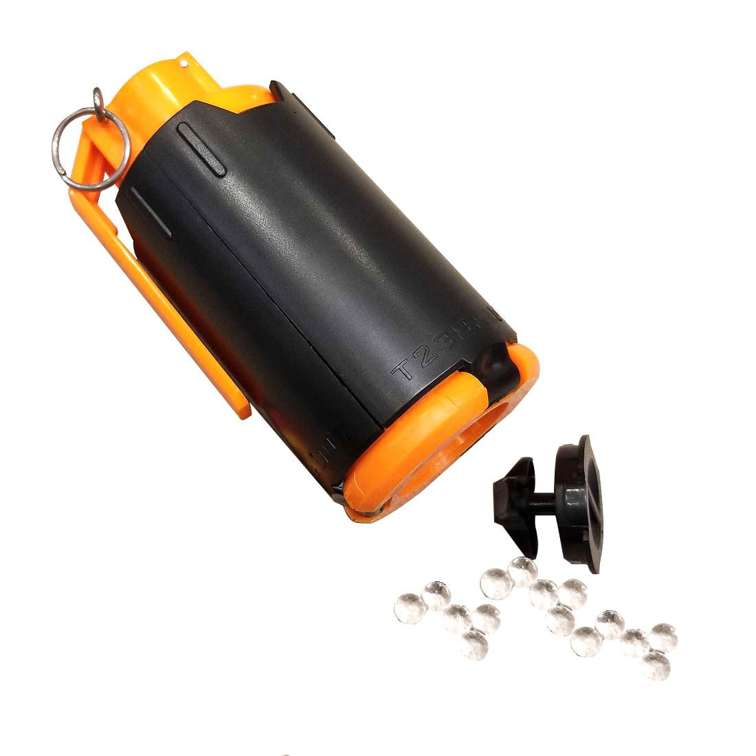 Tactical Plastic Modified Crystal Water Beads Bomb Crystal Water Bullet Bomb - Black + Orange
