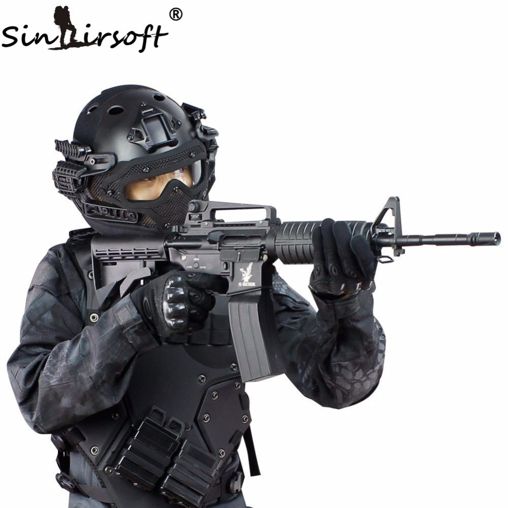 SINAIRSOFT Tactical Helmet New G4 System ABS Full Face Mask With Goggle For Military Airsoft Paintball Army fast helmet
