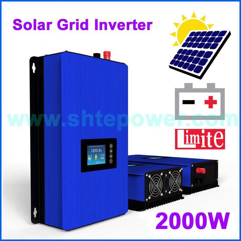 2000W Solar Grid Tie inverter With internal limiter MPPT pure sine wave grid tie solar inverter 2kw DC45-90V to AC220v 230V 240V
