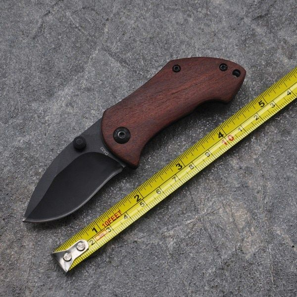 Folding Knife Outdoor 5Cr13 Blade Mini Pocket Folding Hunting Knife Tactical Survival Knives 440C Blade Steel Wood Handle