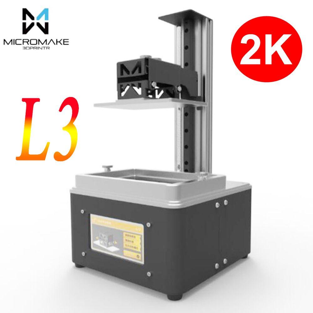 Micromake 3d printer L3 wifi UV light curing SLA/LCD/DLP 3d printer high precision 2K impresora for Jewelry dentistry photon