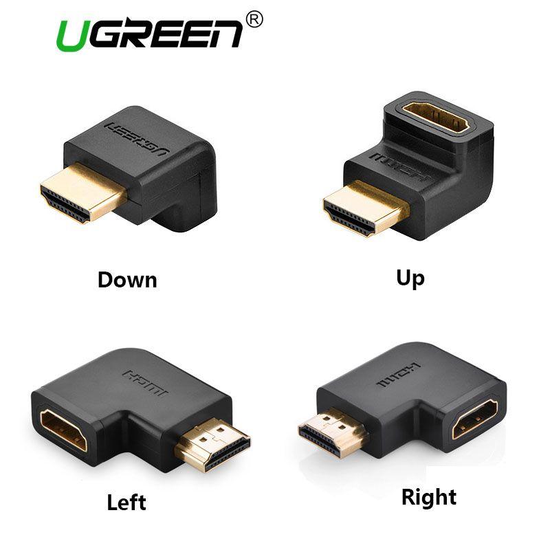 Ugreen HDMI Stecker auf HDMI Buchse Kabel-adapter-konverter Extender 90 Grad Winkel 270 Grad Winkel für 1080 P HDTV HDMI Adapter
