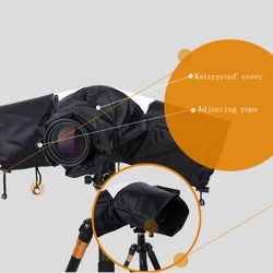 Practical Waterproof Rain Cover Dust Protection Rainproof for SLR DSLR Camera with Control Rope of Lens Length