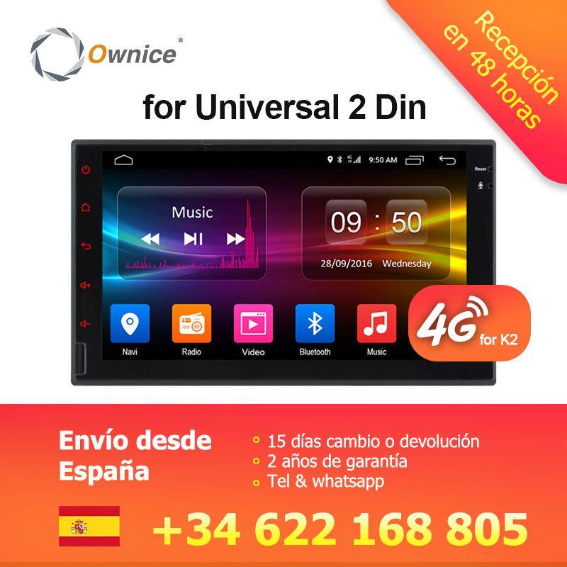 Ownice K1 K2 Octa 8 Core Android 2G RAM 32 GB ROM Soutien 4G LTE SIM Réseau De Voiture GPS 2 din Universel voiture Radio lecteur dvd
