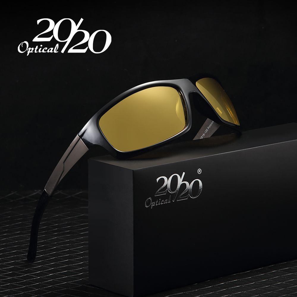 20/20 Новый Ночное видение Солнцезащитные очки для женщин Для мужчин Брендовая Дизайнерская обувь мода поляризованный ночного вождения Enhanced ...