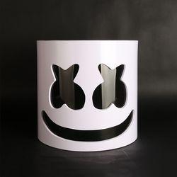 Flash Type!!!PVC Marshmello Helmet DJ Marshmello Mask Concert Props Future Bass Marshmello Music Fans Prop Bars Prop Without LED