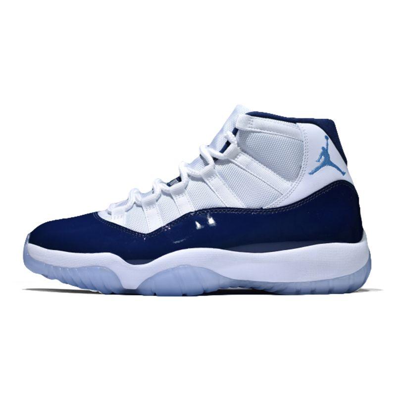Оригинальный Иордания Ретро 11 полночь темно-синий белый человек дышащая мужская баскетбольная обувь спортивные кроссовки 378037-123